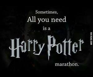 harry potter, Marathon, and movies image