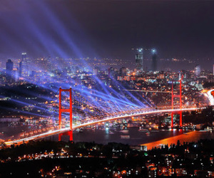 light, city, and istanbul image