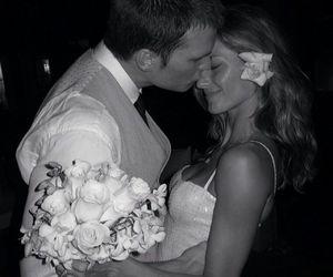 wedding, Gisele Bundchen, and couple image