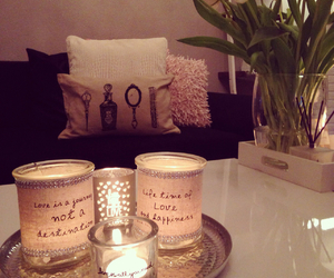 candle, flowers, and style image