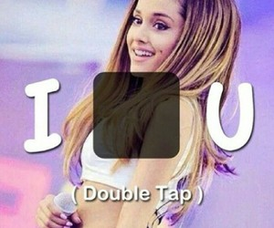 ariana grande, double tap, and heart image