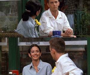 chandler bing, friends, and couple image