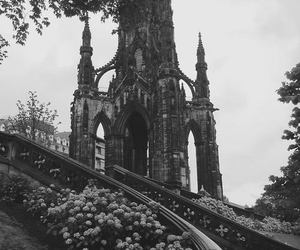 flowers, castle, and architecture image