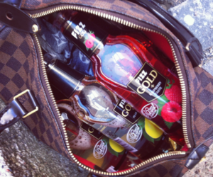 bag, drink, and party image