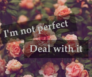 flowers, perfect, and quote image