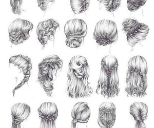 drawing, hair, and hairstyle image