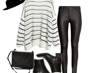 black, casual, and outfit idea image