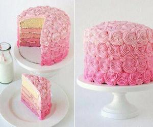 cake, pink, and rose image