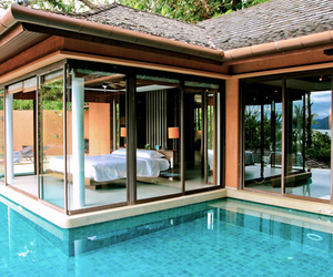 pool, bedroom, and awesome image