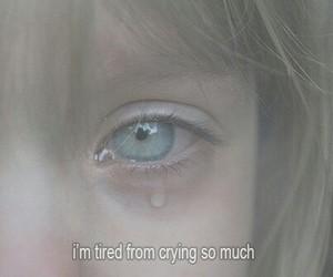 crying, eyes, and girls image