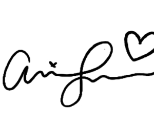 ariana grande, overlay, and signature image