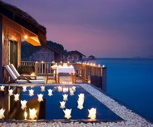 house, luxury, and night image