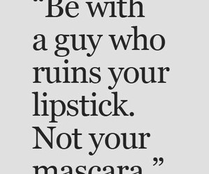 lipstick, mascara, and guy image