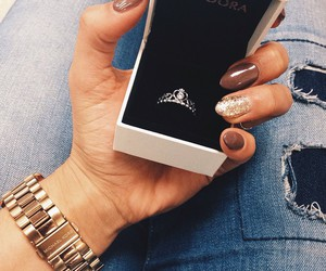 nails, pandora, and accessories image