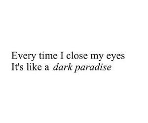 quote, paradise, and dark image