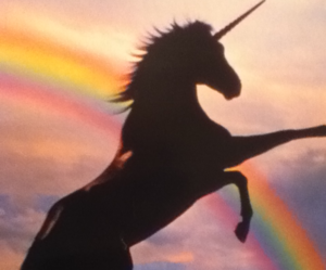 unicorn, rainbow, and magic image