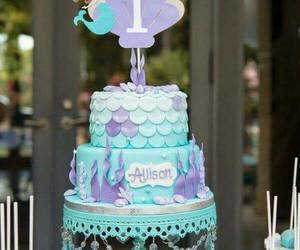 birthday, mermaid, and girl birthday image