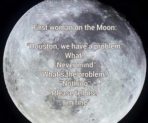 funny, moon, and woman image