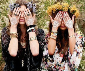 fashion, girl, and hippie image