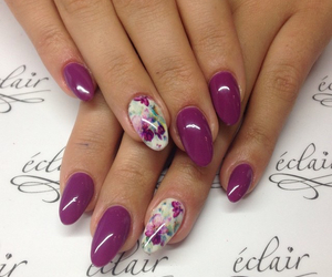 flower, manicure, and nails image