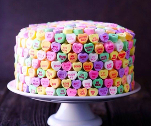 cake, heart, and valentines image