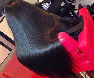 long hair, hair, and black hair image