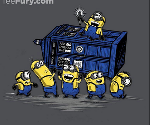 minions, doctor who, and tardis image