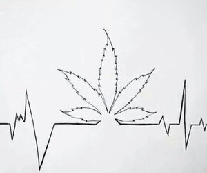 heartbeat, stoner, and stoned image