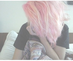 girl, pink, and texture image