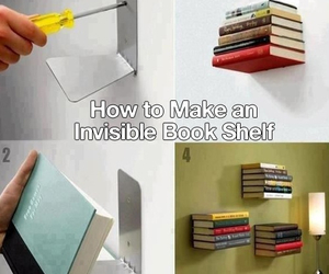 book, invisible, and shelf image