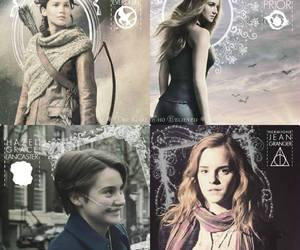 harry potter, tfios, and the hunger games image