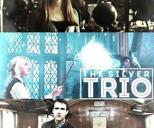 harry potter, silver trio, and ginny image