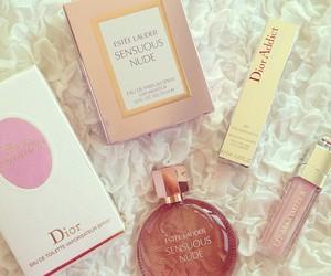 perfume, dior, and makeup image