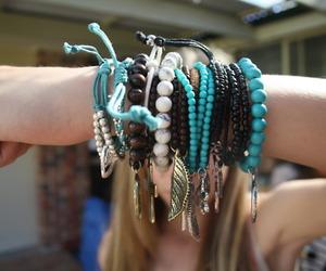 bracelet, blue, and tumblr image