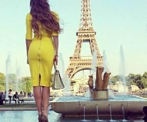 fashion, paris, and yellow image