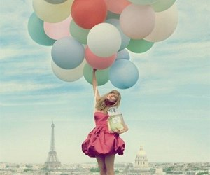 balloons, paris, and pink image