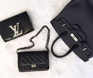 chanel, hermes, and Louis Vuitton image