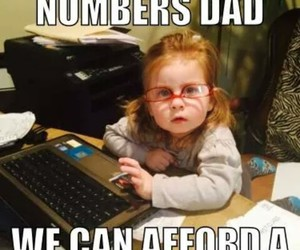 funny, girl, and numbers image