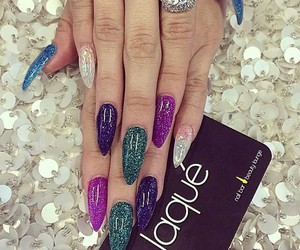 blue, laque, and nails image