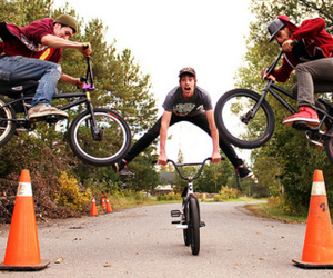 bicycle, bmx, and boys image