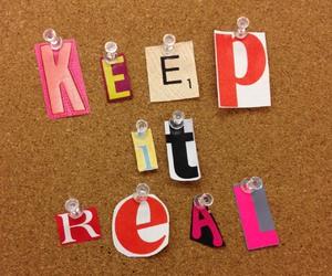 keep it real image