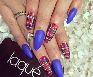 nails, blue, and laque image