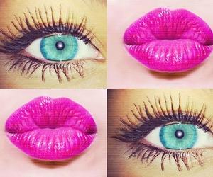 eyes, lips, and make image
