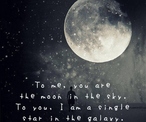 moon, stars, and deep quotes image