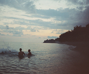 grunge, love, and ocean image