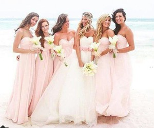 pink, wedding, and weddingdress image
