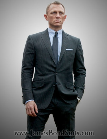This Charcoal Suit Has Been Inspired From Latest 007 Movie