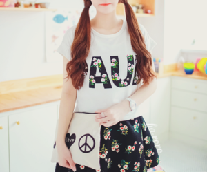 asian, fashion, and flower image