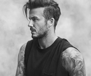David Beckham, tattoo, and beckham image