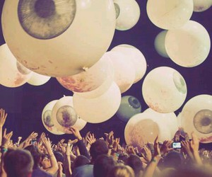 eyes, party, and balloons image